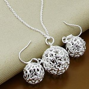 New! Sterling Silver Hollow Ball Set